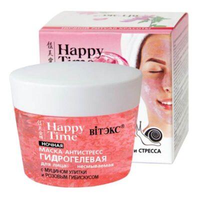 Хидрогелна маска-антистрес с муцин от охлюв и розов хибискус